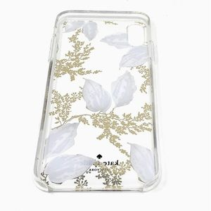 kate spade iPhone XS MAX clear gold floral case